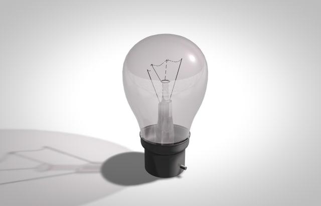 3d light bulb model