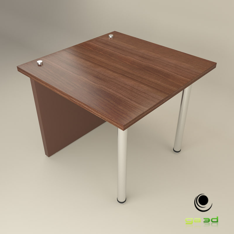 3d office end table