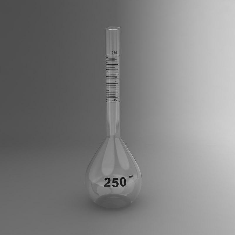 3d volumetric flask model
