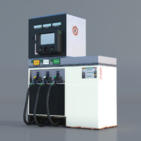 gas gasoline pump 3d model