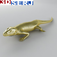 lizard brooch 3d model