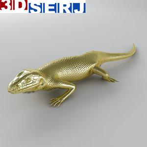 lizard brooch 3d model