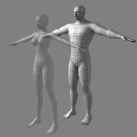 Low-poly Male (real-time base mesh)