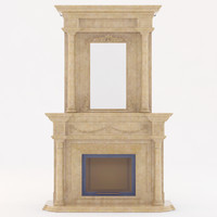 marble fireplace 3d model