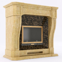 3d marble fireplace