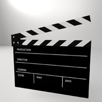 3d clapperboard clapper board