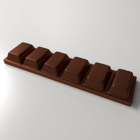 3ds max chocolate bar