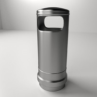 trashcan 3 3d 3ds