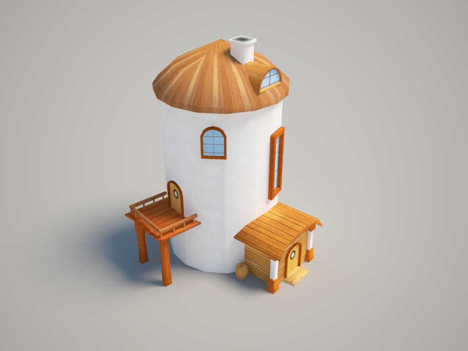 3d model casual house