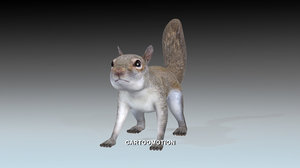 fox squirrels 3d model