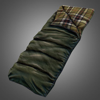 sleeping bag 3d obj