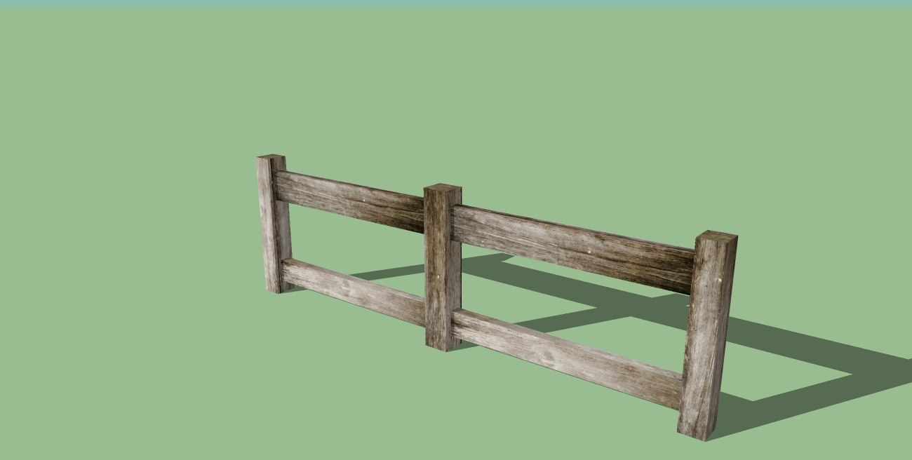 fence wood 3ds