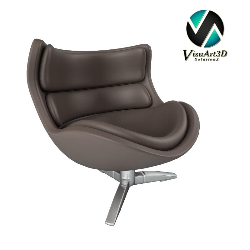3ds max original comfort armchair
