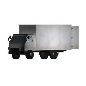 3d white delivery truck
