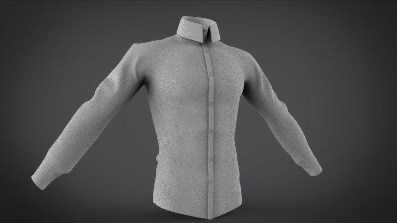 3ds max shirt court long