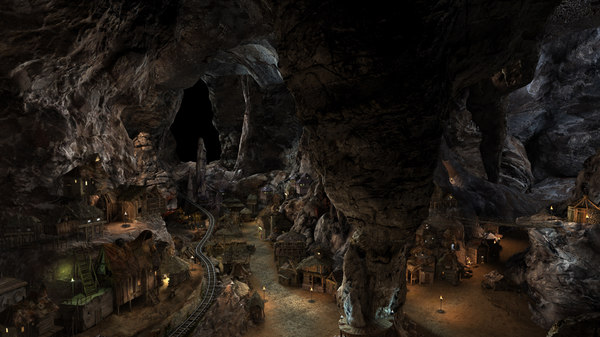 cave village 3d max