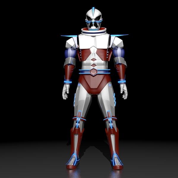 blender sci-fi hero