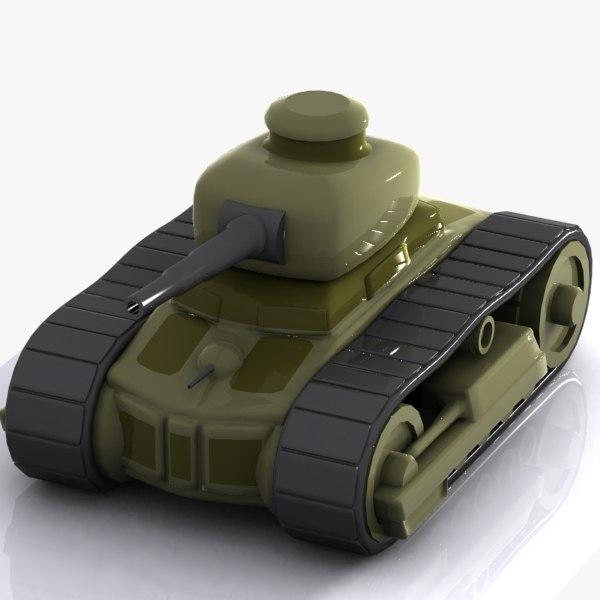 3d cartoon tank toon