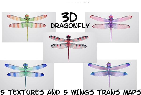 dragonfly fly obj