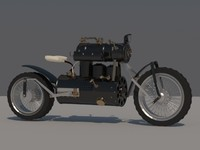 3d motorcycle steampunk model