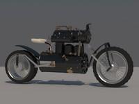 3d motorcycle steampunk model