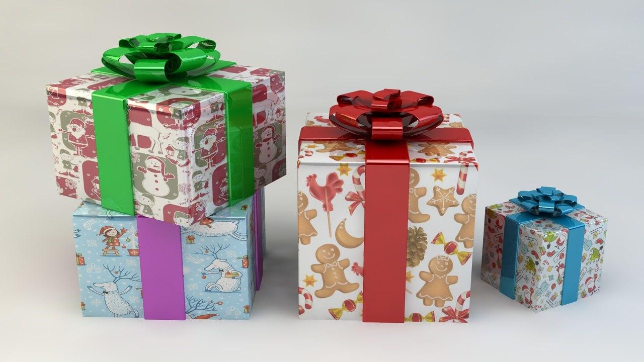 3dsmax christmas gift