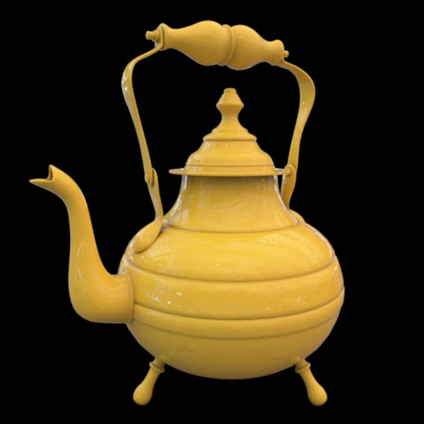 c4d tea pot vitorian