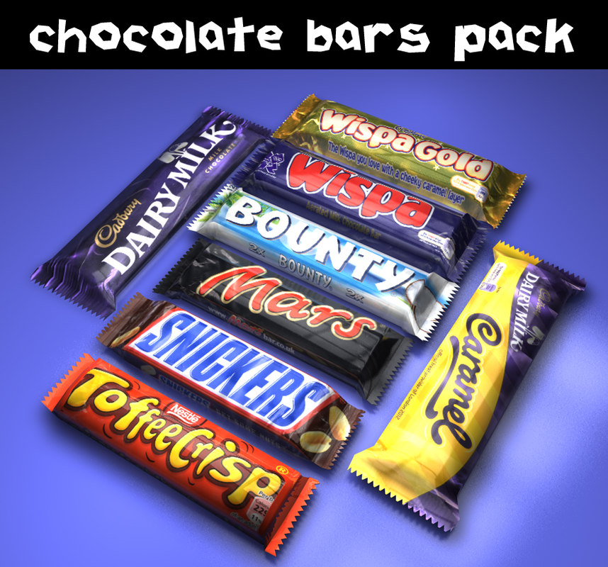 3d chocolate bars model