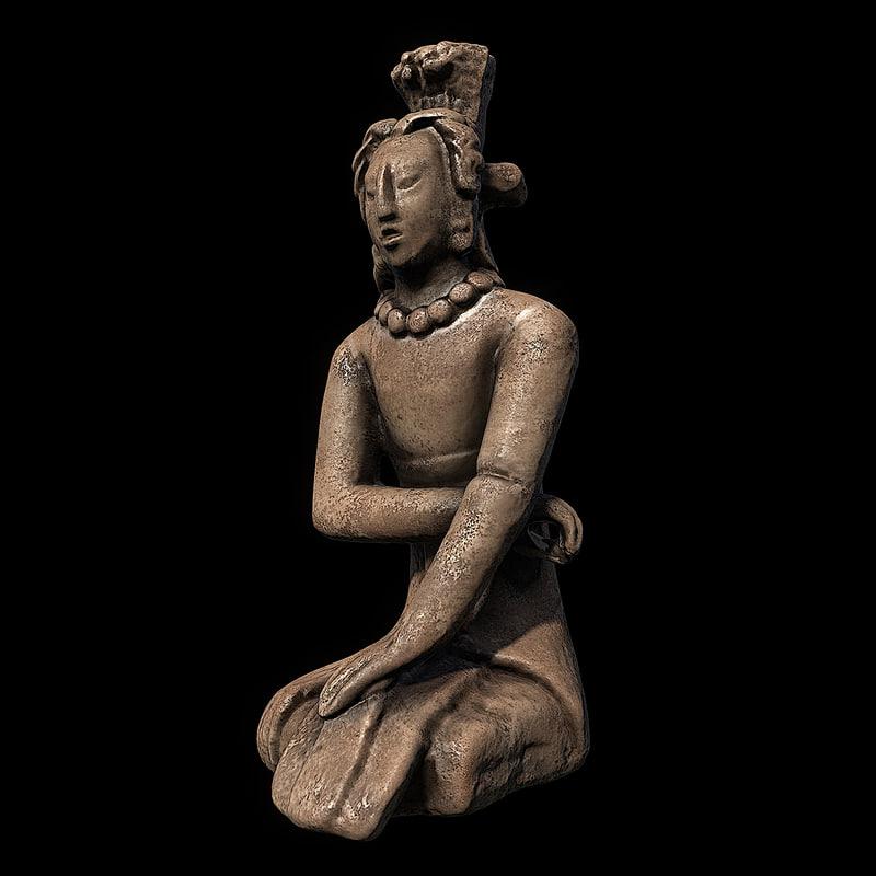 3d model of figure palenque replica