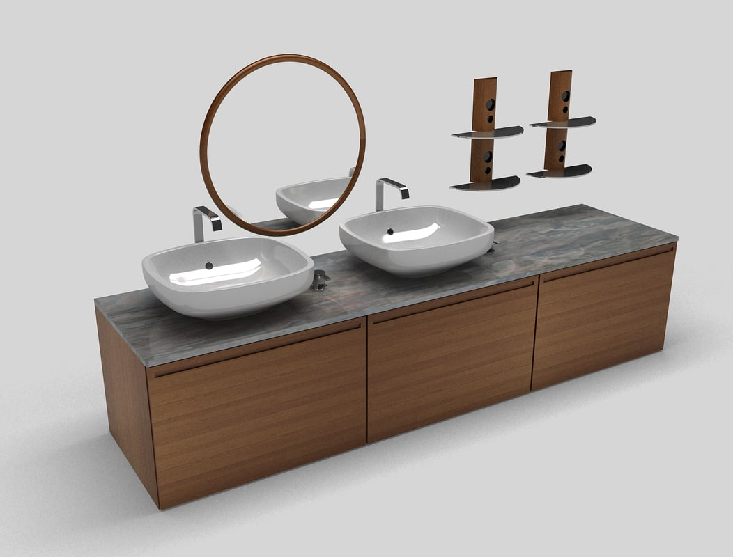 3d bathroom sink