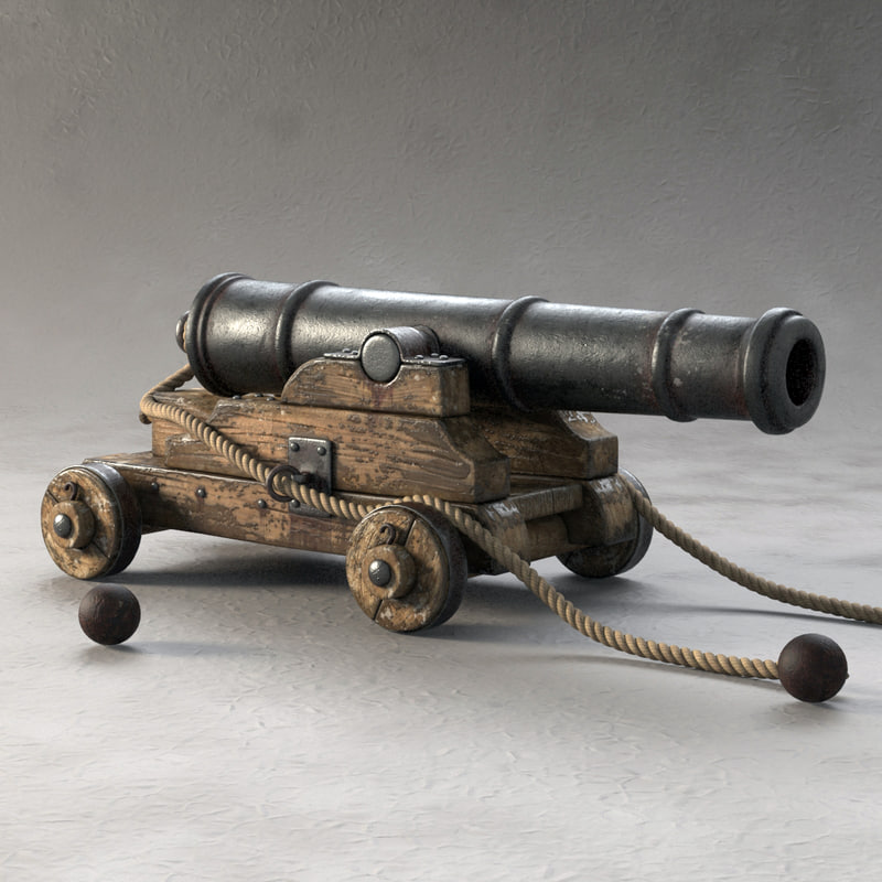 3ds max cannon pirate ship