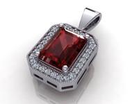3d diamond pendant