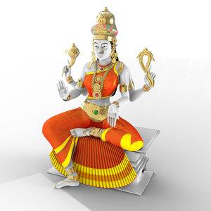 3d indian goddess model