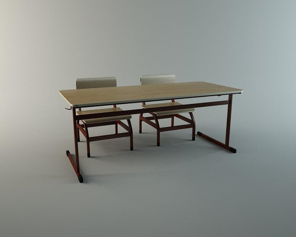 maya school desk