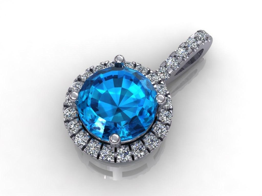 3d model diamond pendant