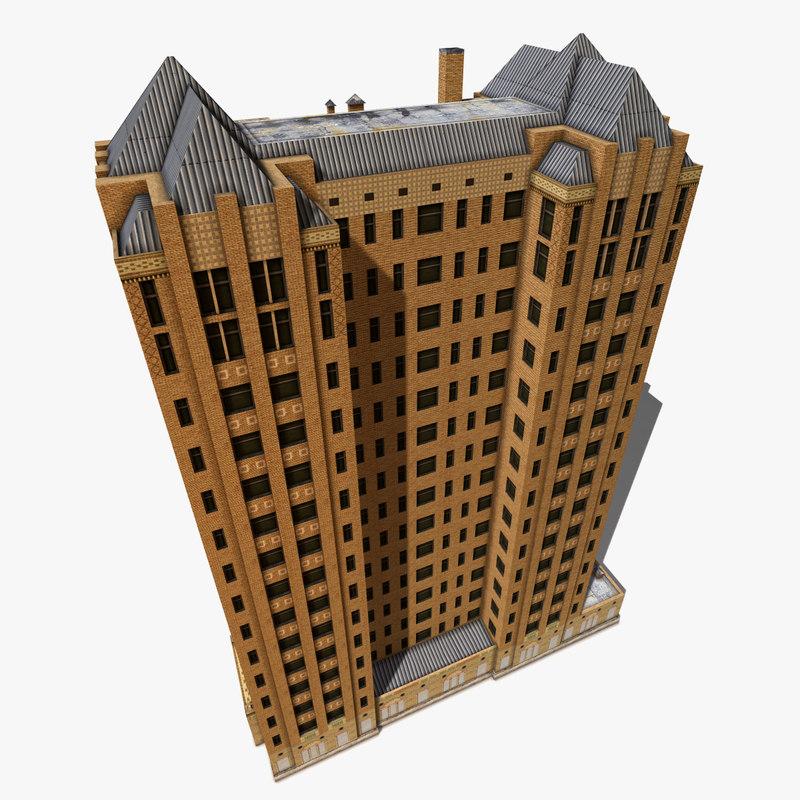 3d abandoned skyscraper
