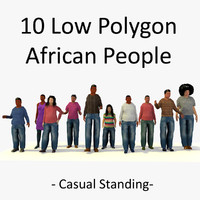 3ds african standing characters