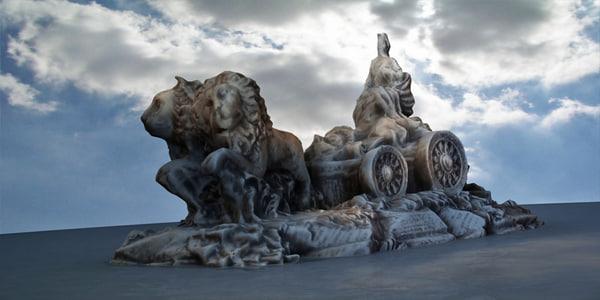 3d monument statue