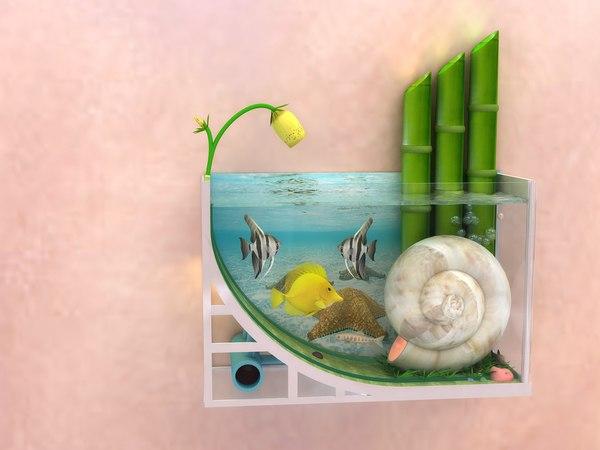 3d model fish aquarium