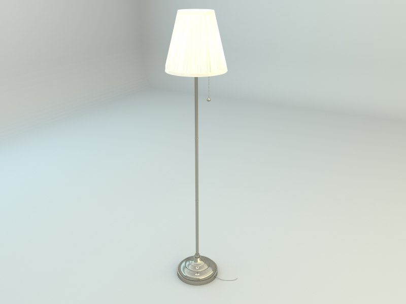 3ds max ikea arstid floor lamp
