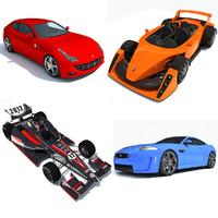 sport racing cars 3d model