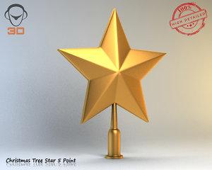 christmas tree star 3d max
