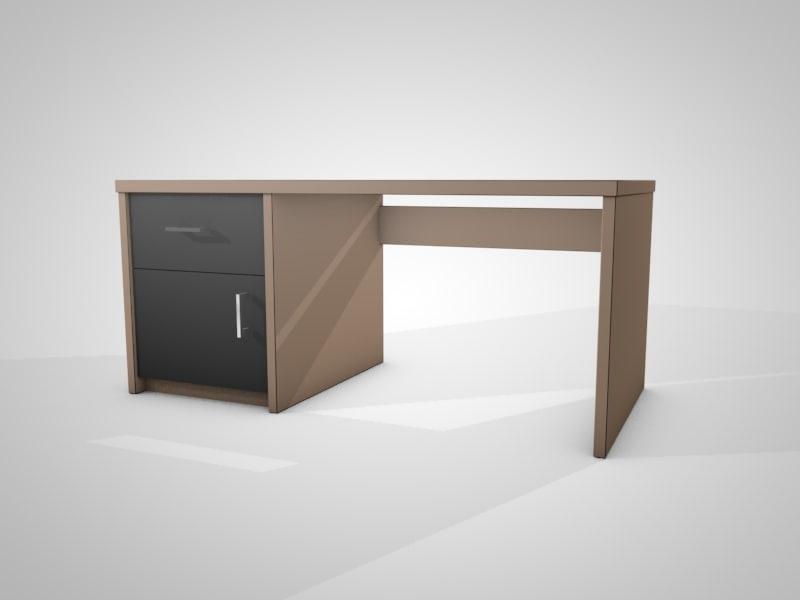 office desk c4d free