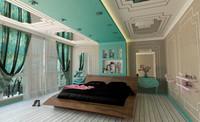3d lüx bedroom bed
