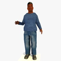 3ds max realistically standing african male