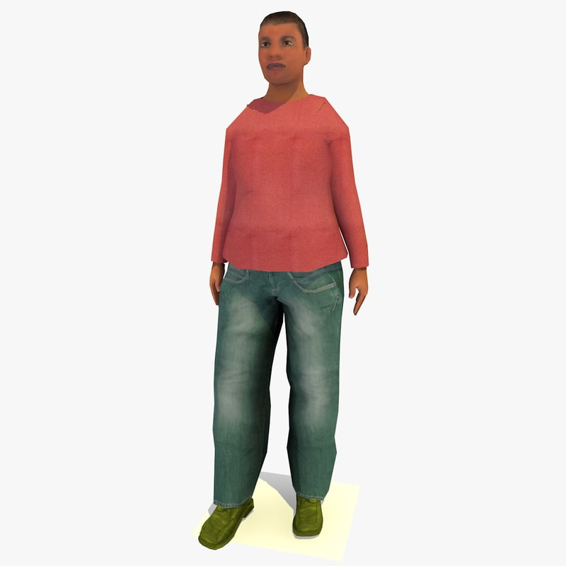 realistically standing african joanna 3d model