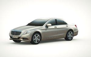 mercedes-benz s-class 2014 3d 3ds