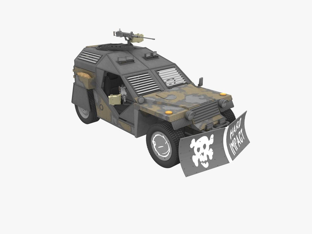 russian buggy armored post-apocalyptic 3d 3ds