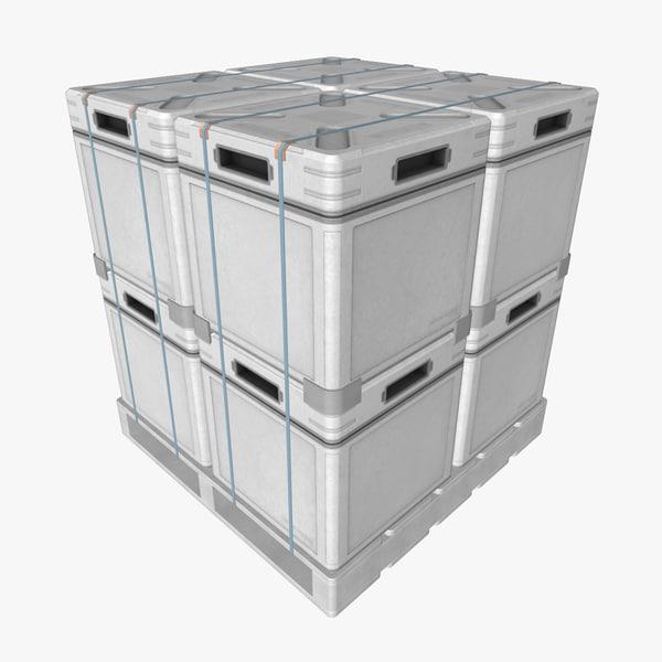 3d pallet metal cases