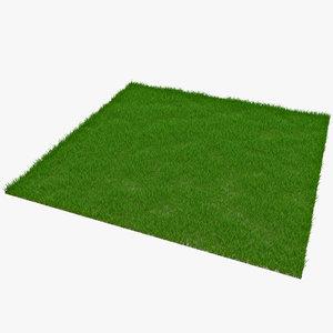 3d rectangular grass patch